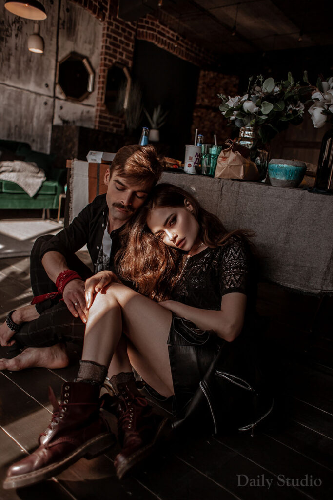 urban, фотосессия влюбленная пара