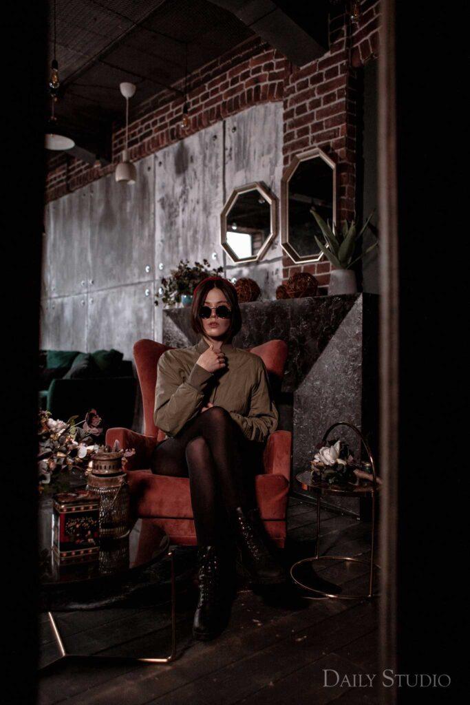 urban, фотосессия в кресле