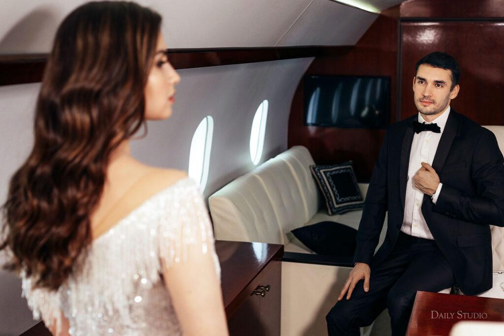 фотосессия в самолете, фотосессия в частном самолете спб, салон самолета для фотосессии, love story в самолете, новогодняя фотосессия в самолете, фотосессия в самолете бизнес-класса