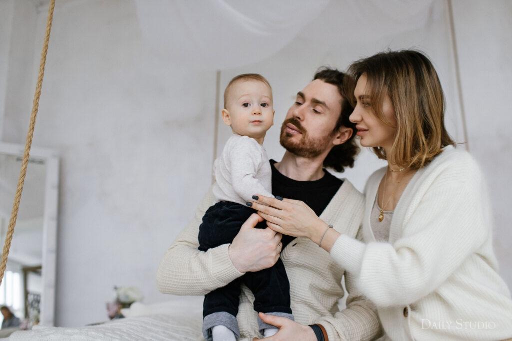 фотосессия с ребенком до года, фотосессия с ребенком до года в студии