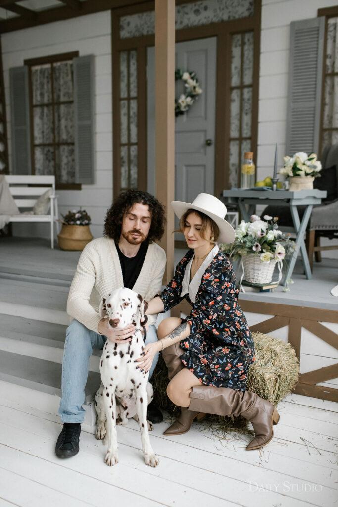 фотосессия с собакой, фотосессия с далматинцем