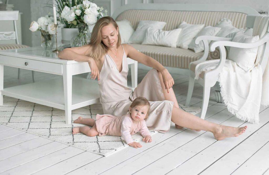 Soft, фотосессия мама и дочка