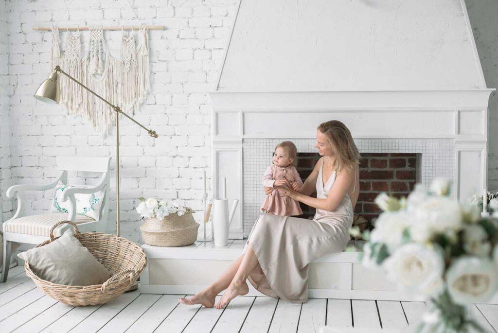 Soft, фотосессия с дочкой в студии