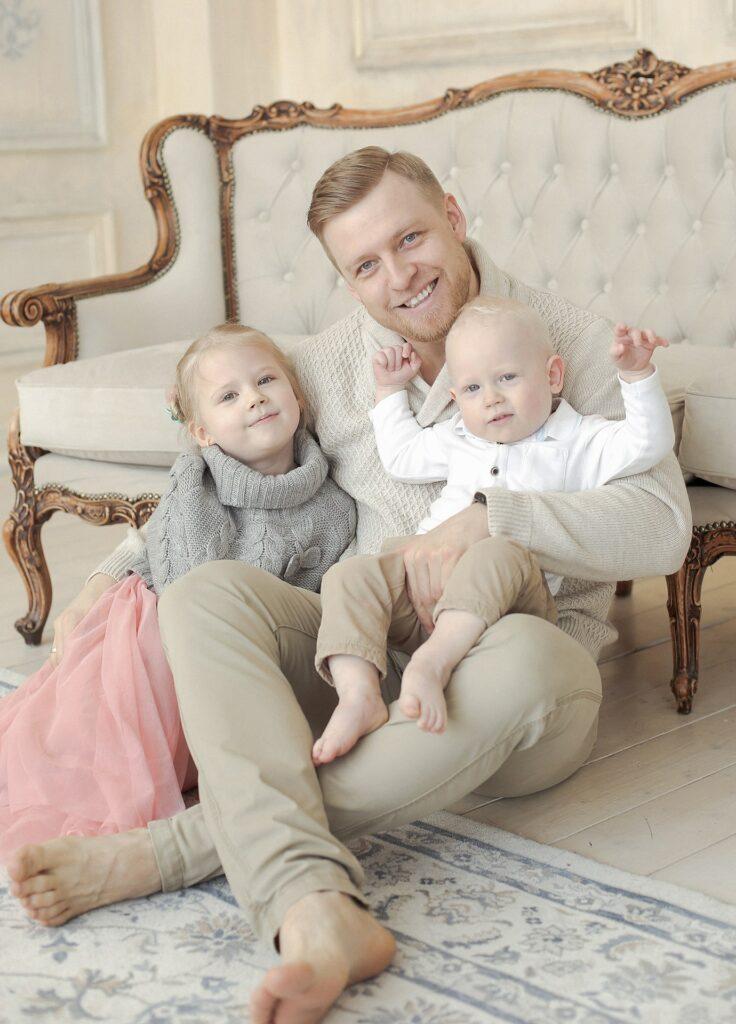 фотосессия папы и ребенка, семейные фотосессии с детьми