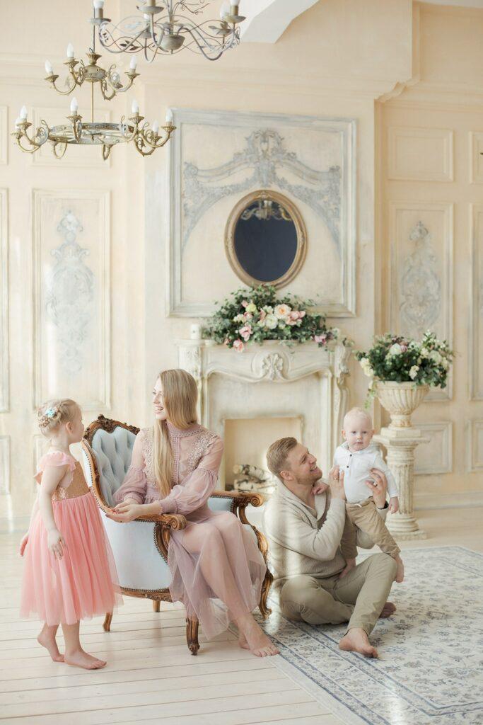 семейная фотосессия в студии фото, семейная фотосессия цена