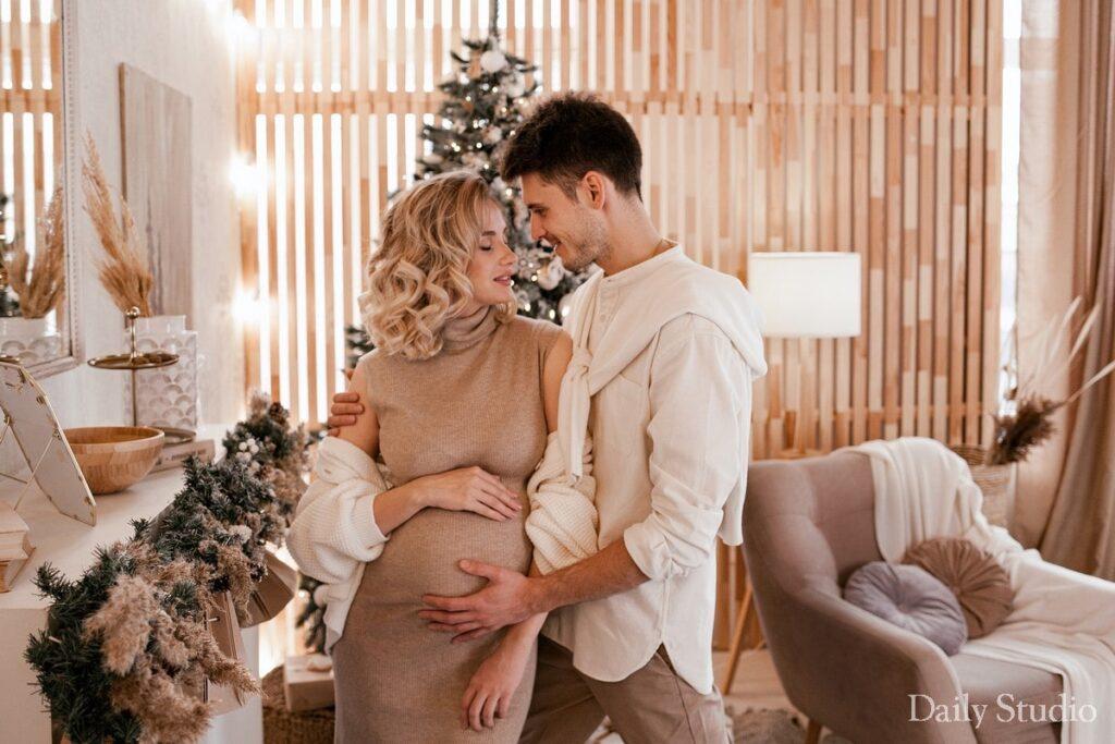 Shanti, фотосессия беременности с мужем