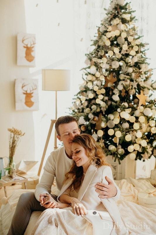 фотосессия с елкой новогодней, новогодняя фотосессия возле елки