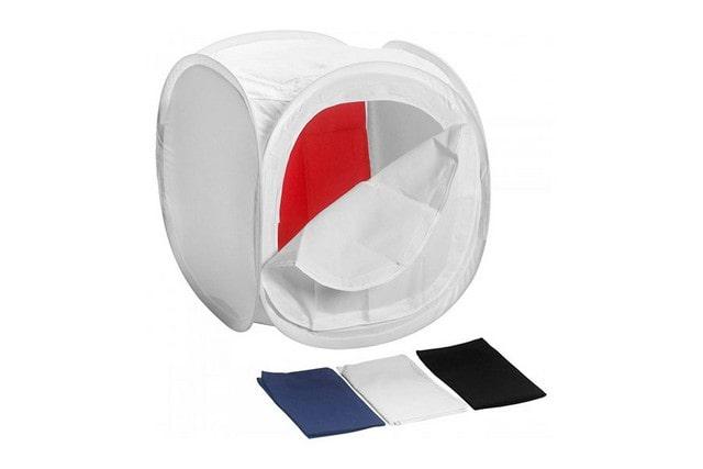 Фотобокс LFPB3 90х90х90 ( в комплекте фоны: черный, красный, белый, синий)