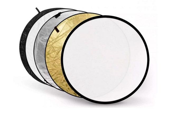 Отражатель портретный D80 cм (серебро, золото, белый)